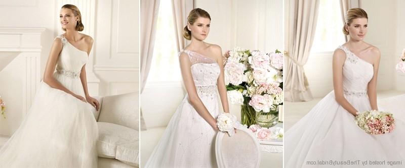 Pronovias 2013 One Shoulder Bridal Dresses | Wedding Dress Within Wedding Hairstyles For One Shoulder Dresses (View 9 of 15)