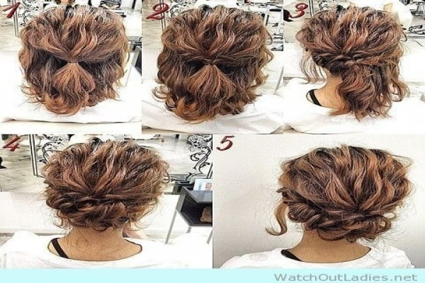 Quick Updo For Long Curly Hair – The Newest Hairstyles Throughout Simple Wedding Hairstyles For Long Curly Hair (View 11 of 15)