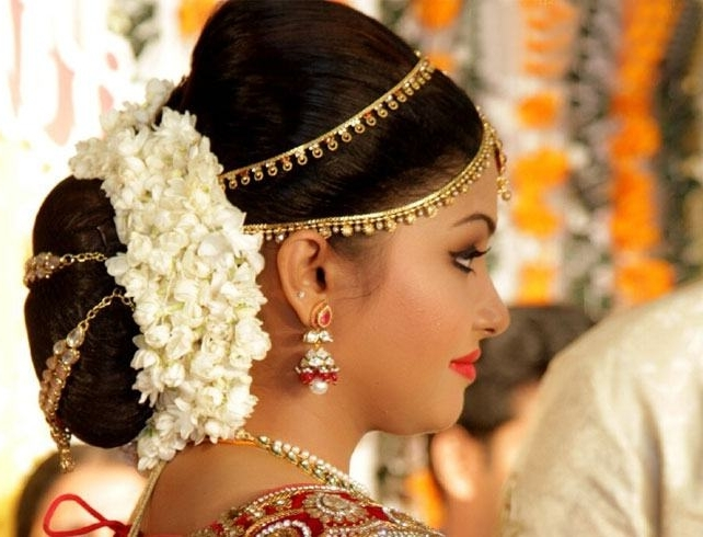 Reception Hairstyles: How To Nail Your Wedding Look With Regard To Wedding Reception Hairstyles For Indian Bride (View 11 of 15)