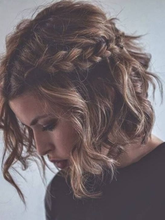 Romantic Messy Hairstyles For All Women | Pinterest | Messy Braided Intended For Cute Wedding Hairstyles For Short Curly Hair (View 8 of 15)
