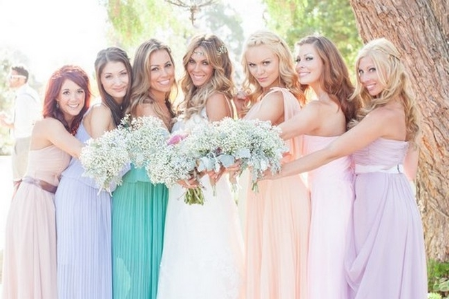 Romantic & Rustic Garden Wedding In California Intended For Outdoor Wedding Hairstyles For Bridesmaids (View 11 of 15)