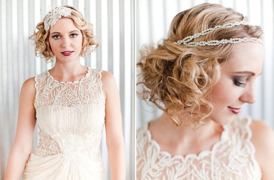 Romantic Wedding Hair Accessories, Vintage Wedding Dress In Romantic Vintage Wedding Hairstyles (View 2 of 15)