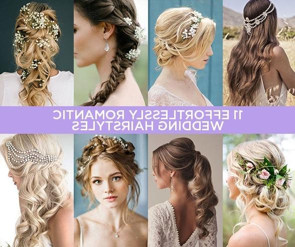 Romantic Wedding Hairstyles 11 Effortlessly Romantic Wedding For Romantic Wedding Hairstyles (View 10 of 15)