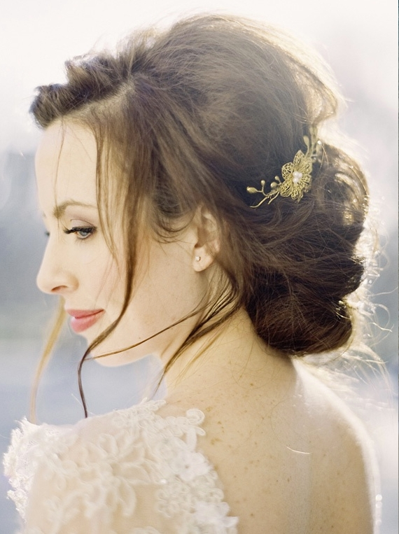 Romanticism Displayed In A Romantic Wedding Hairstyle | Bride Sparkle Pertaining To Romantic Vintage Wedding Hairstyles (View 13 of 15)