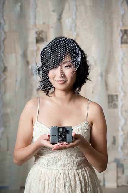 Short Black Wedding Hairstyle With Birdcage Veil | Ipunya With Wedding Hairstyles For Short Hair With Birdcage Veil (View 9 of 15)