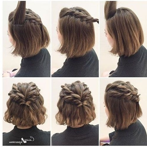 Short Hair Updos For Wedding – The Newest Hairstyles Intended For Easy Wedding Guest Hairstyles For Short Hair (View 11 of 15)