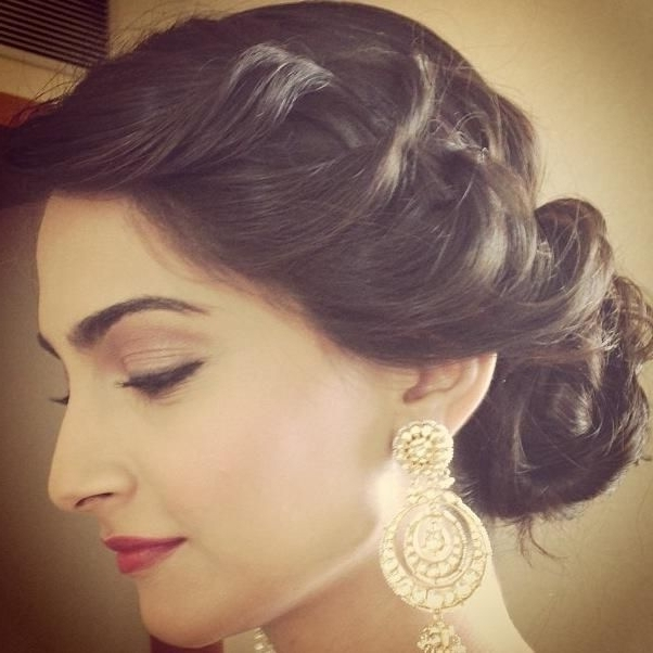 Short Hairstyles: Best Indian Hairstyles For Short Hair Traditional In Indian Wedding Hairstyles For Short Curly Hair (View 7 of 15)