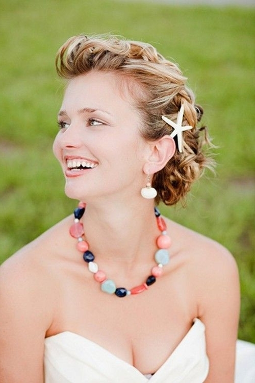 Short Hairstyles: Cute Beach Hairstyles For Short Hair Updo Pertaining To Beach Wedding Hairstyles For Short Hair (View 14 of 15)