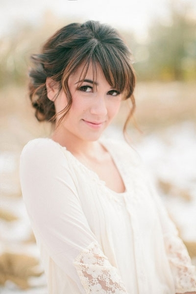 Short Hairstyles For Weddings For Bridesmaids – Hairstyle For Women With Regard To Wedding Hairstyles For Long Hair With Bangs (View 8 of 15)