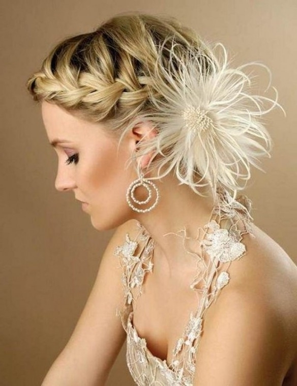 Short Hairstyles : Short Hair Wedding Styles With Fascinator Intended For Updos Wedding Hairstyles With Fascinators (View 8 of 15)