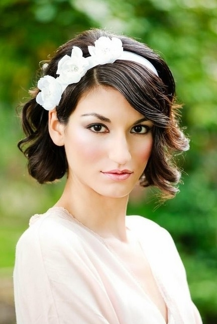 Short Wedding Hairstyle Ideas – 22 Bridal Short Haircuts – Pretty For Wedding Hairstyles For Short Hair With Fringe (View 9 of 15)