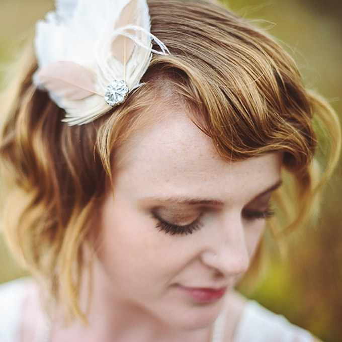 Short Wedding Hairstyles For Brides – Short Wedding Hairstyle Ideas Intended For Bohemian Wedding Hairstyles For Short Hair (View 15 of 15)