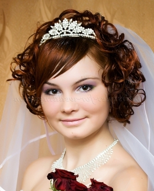 Short Wedding Hairstyles For Curly Hair – Short Curly Bridal Pertaining To Wedding Hairstyles For Short Curly Hair (View 15 of 15)