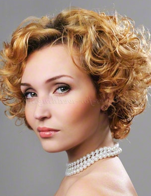 Short Wedding Hairstyles For Curly Hair – Short Curly Wedding Intended For Wedding Hairstyles For Short Curly Hair (View 4 of 15)