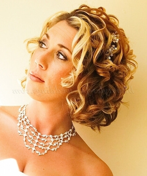Short Wedding Hairstyles For Curly Hair – Short Curly Wedding Pertaining To Wedding Hairstyles For Bridesmaids With Short Hair (View 12 of 15)