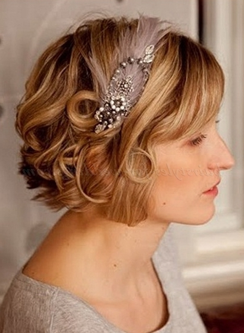 Short Wedding Hairstyles For Curly Hair – Short Wavy Wedding Throughout Wedding Hairstyles For Short Curly Hair (View 5 of 15)