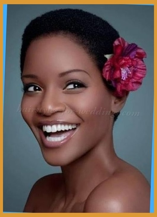 Short Wedding Hairstyles For Natural Curly Hair Natural Short Inside Within Wedding Hairstyle For Short African Hair (View 12 of 15)
