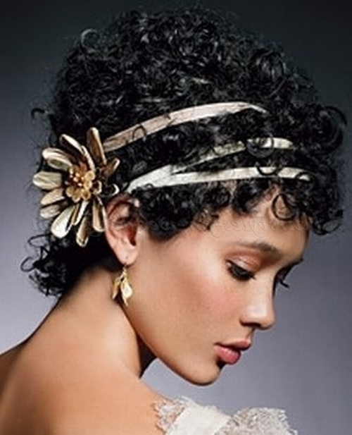 Short Wedding Hairstyles For Natural Curly Hair – Short Afro Bridal Intended For Wedding Hairstyle For Short African Hair (View 15 of 15)