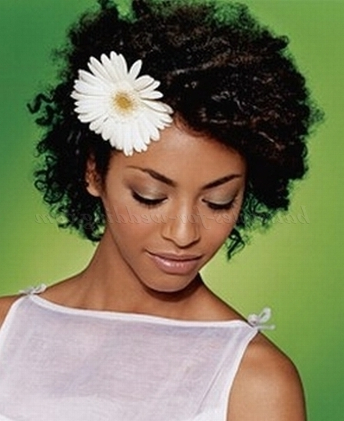Short Wedding Hairstyles For Natural Curly Hair – Short Afro Wedding For Wedding Hairstyle For Short African Hair (View 10 of 15)