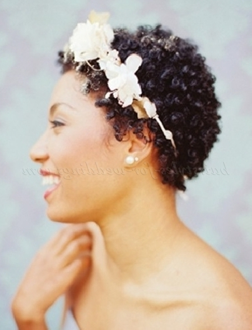 Short Wedding Hairstyles For Natural Curly Hair – Short Afro Wedding With Bridal Hairstyles For Short Afro Hair (View 3 of 15)