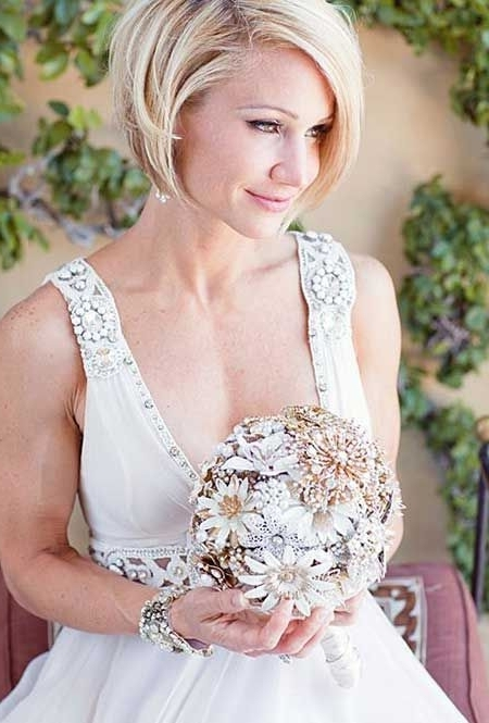 Short Wedding Hairstyles Pictures | Short Blonde Bobs, Short Wedding In Bob Wedding Hairstyles (View 12 of 15)