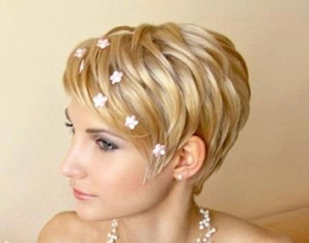Short Wedding Hairstyles | Short Hairstyles 2017 – 2018 | Most With Wedding Hairstyles For Very Short Hair (View 12 of 15)
