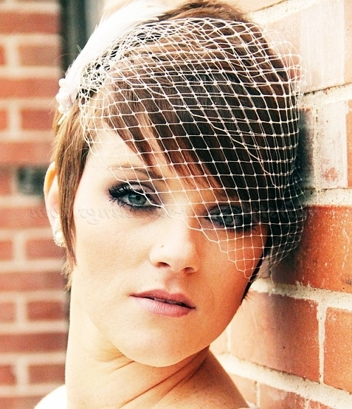 Displaying Gallery of Wedding Hairstyles For Short Hair With ...