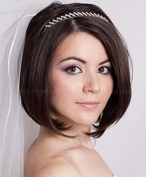 Featured Photo of Wedding Hairstyles For Short Hair And Bangs