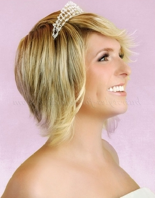 Short Wedding Hairstyles – Short Wedding Hairstyle With Tiara Pertaining To Wedding Hairstyles For Short Hair With Tiara (View 5 of 15)