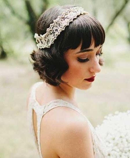 Short Wedding Hairstyles With Fringe – Hairstylesunixcode In Wedding Hairstyles For Short Hair And Bangs (View 7 of 15)