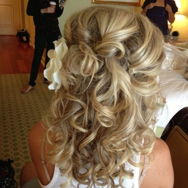 Featured Photo of Bridal Hairstyles For Medium Length Curly Hair