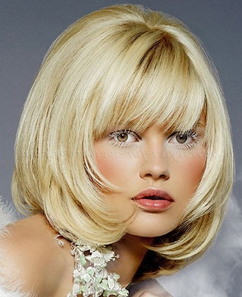 Shoulder Length Wedding Hairstyles – Bob Hairstyle With Fringe Pertaining To Wedding Hairstyles For Shoulder Length Hair With Fringe (View 6 of 15)