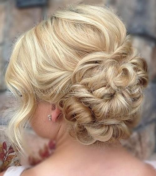 Shoulder Length Wedding Hairstyles – Low Bun Wedding Hairstyle For Regarding Wedding Updos Hairstyles For Medium Length Hair (View 8 of 15)