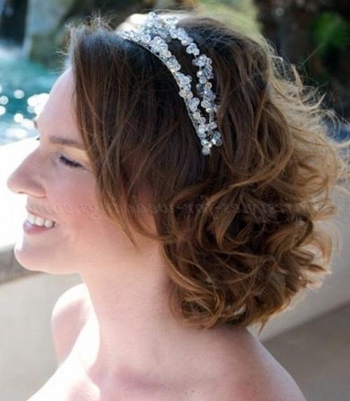 Shoulder Length Wedding Hairstyles – Medium Length Bridal Hairstyle Inside Wedding Hairstyles For Shoulder Length Hair With Tiara (View 10 of 15)