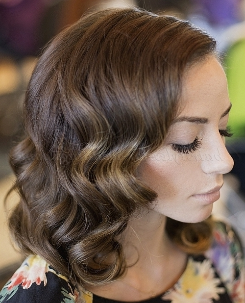 Shoulder Length Wedding Hairstyles – Wavy Wedding Hairstyle Medium Intended For Bridal Hairstyles For Medium Length Curly Hair (View 10 of 15)