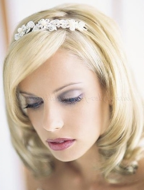 Gallery Of Wedding Hairstyles For Medium Length Straight Hair View