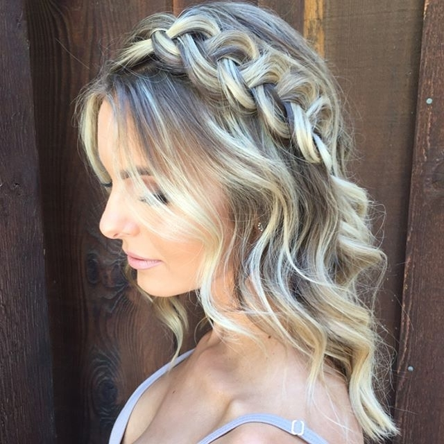 Side Braid Detail On Medium Length Hair Makeup@shelby Mcelroy With Regard To Wedding Hairstyles For Shoulder Length Layered Hair (View 14 of 15)