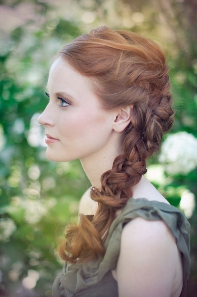 Side Braid Wedding Hair | Loverly | The Ultimate Wedding Planning Throughout Side Braid Wedding Hairstyles (View 11 of 15)