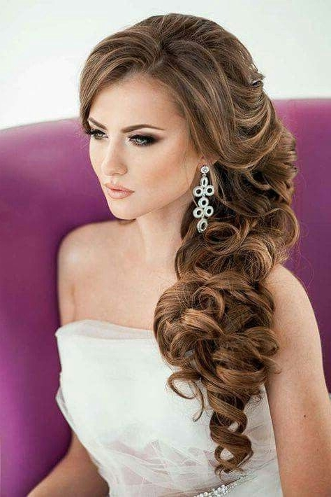 Gallery of Ringlets Wedding Hairstyles (View 2 of 15 Photos)