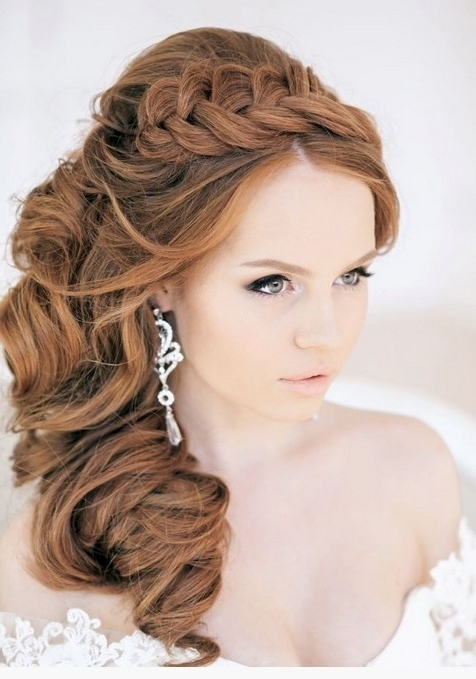 Photo Gallery of Wedding Hairstyles Long Side Ponytail Hair (Showing ...