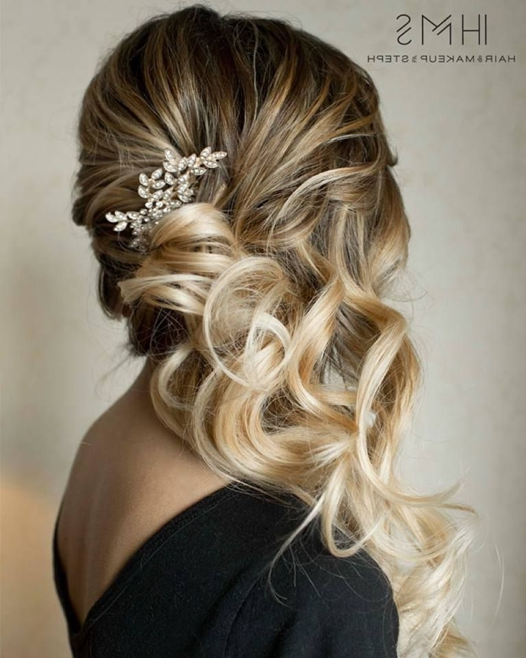 Side Swept Hair | Mane Magic | Pinterest | Side Sweep Hair, Side Intended For Wedding Side Hairstyles (View 10 of 15)