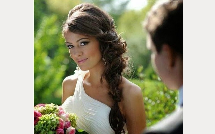 Side Swept Wedding Hairstyles To Inspire – Mon Cheri Bridals Inside Side Swept Wedding Hairstyles (View 2 of 15)