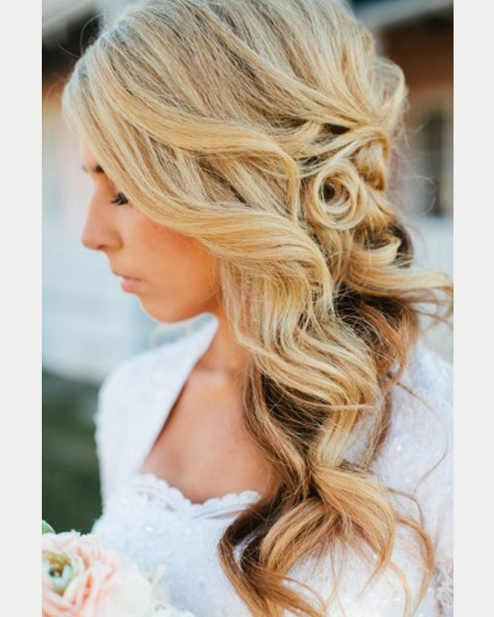 Side Swept Wedding Hairstyles To Inspire – Mon Cheri Bridals With Wedding Hairstyles On The Side With Curls (View 12 of 15)