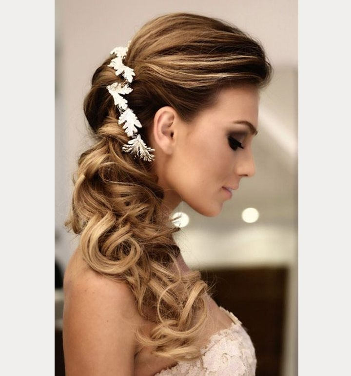 Side Swept Wedding Hairstyles To Inspire | Pinterest | Side Swept Intended For Wedding Hairstyles For Long Hair With Side Swept (View 13 of 15)