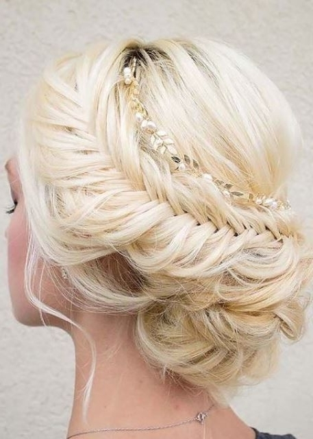 Simple Bridal Hairstyles For Medium Length Hair – The Newest Hairstyles Within Elegant Wedding Hairstyles For Shoulder Length Hair (View 14 of 15)