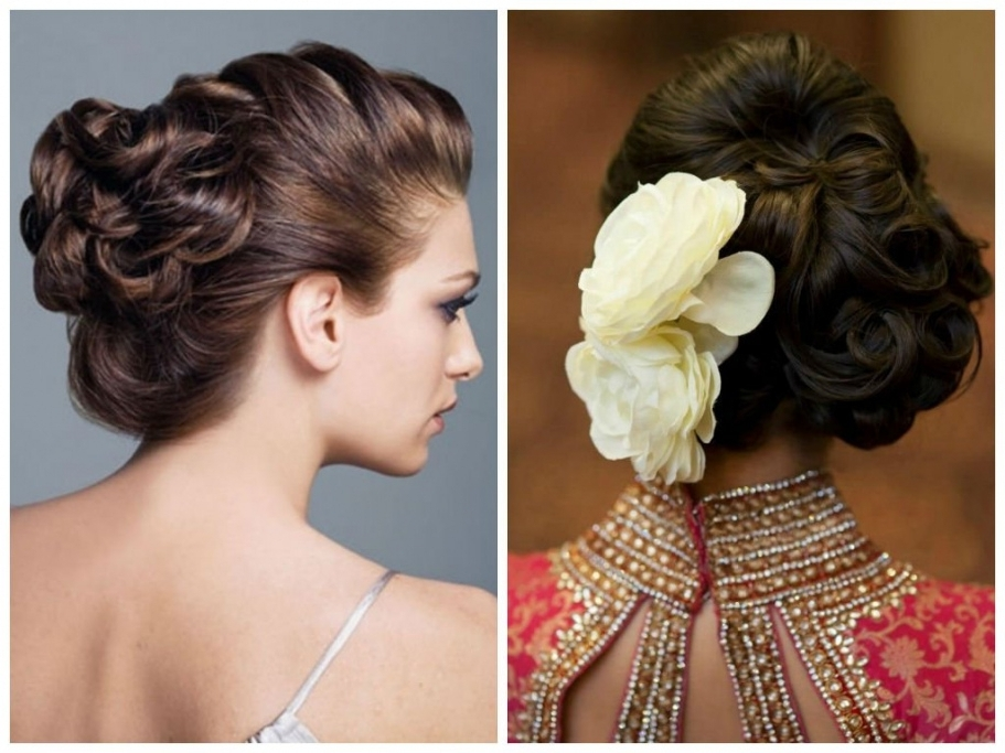 Simple Hair Updos For Medium Length Indian Wedding Hairstyle 50Th Regarding Indian Wedding Hairstyles For Shoulder Length Hair (View 14 of 15)