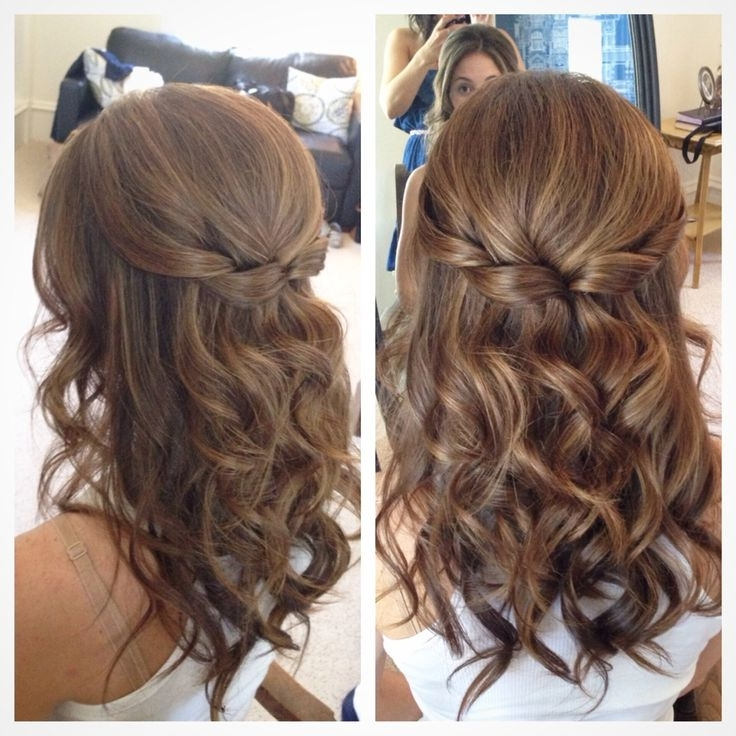Simple Hairstyles For Long Hair Wedding Best 25 Easy Wedding Intended For Easy Bridesmaid Hairstyles For Medium Length Hair (View 15 of 15)
