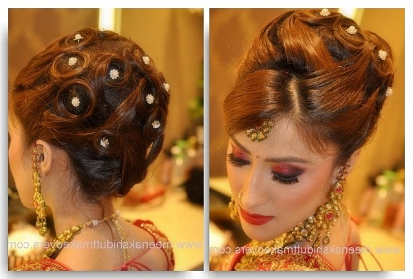 Simple Indian Hairstyles For Straight Hair Wedding | Medium Hair With Easy Indian Wedding Hairstyles For Long Hair (View 3 of 15)