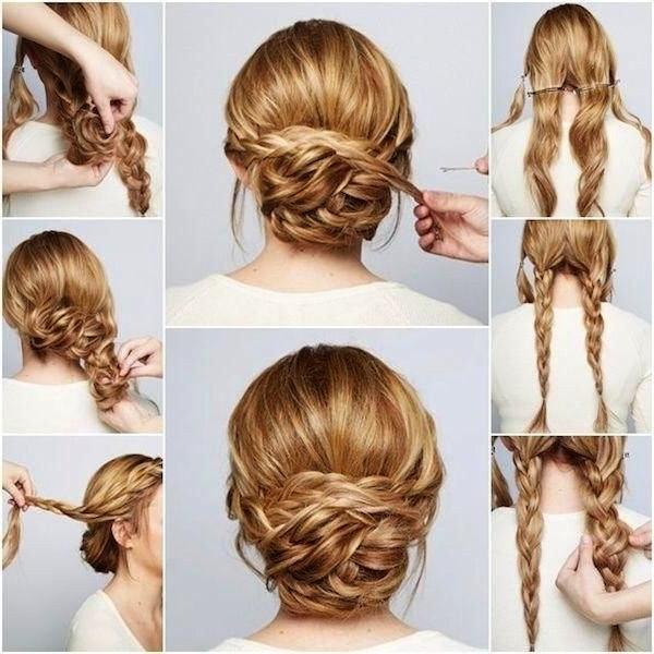 Simple Wedding Hairstyles For Long Hair Best 25 Simple Wedding Updo Throughout Diy Simple Wedding Hairstyles For Long Hair (View 3 of 15)