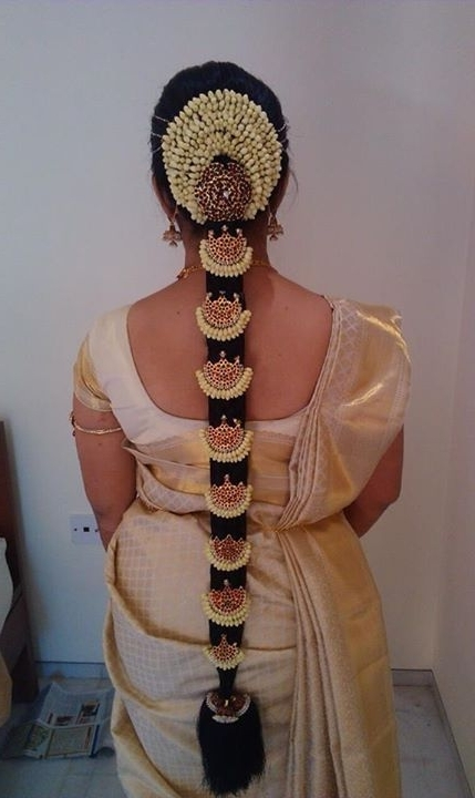 South Indian Bridal Hairstyles For Long Hair With Flowers Pertaining To South Indian Wedding Hairstyles For Long Hair (View 6 of 15)